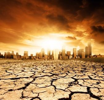 Desert season sun climate sunset