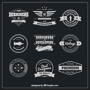 Designer badges pack
