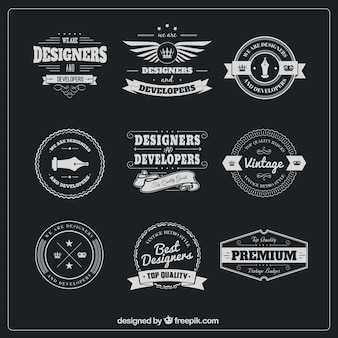 Designer badges pack