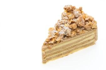 Dessert beverage background slice close