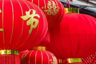 中国の赤い灯籠の詳細