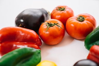 Детальный вид овощей