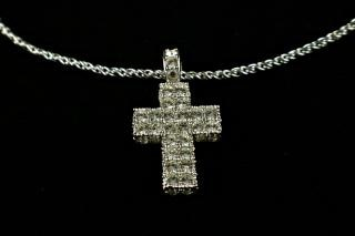 Diamond cross neclace, necklace