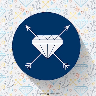 Diamond with arrows