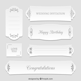 Different floral greeting banners