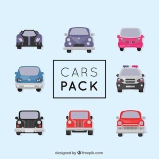 Different types of cars vector