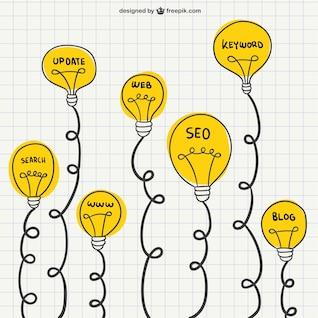 Digital marketing drawings