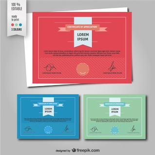 Diploma vector template