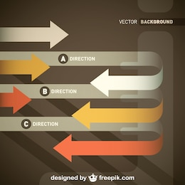 Directional Retro Arrows Template Design