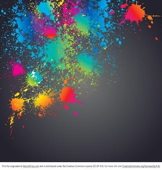 Dirty background with colorful splatters