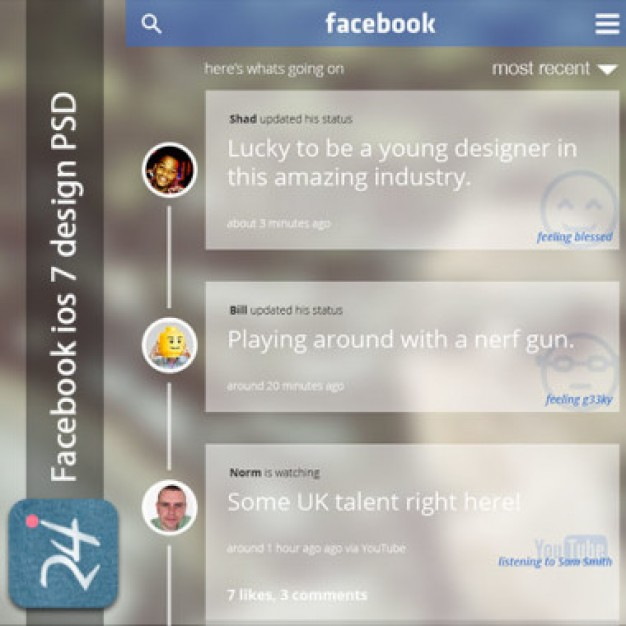 Dirty facebook concept PSD