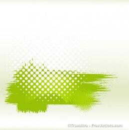 Dirty green halftone banner