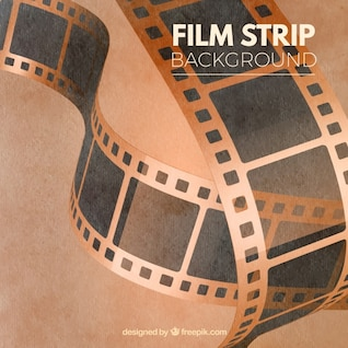 Dirty vintage film strips banners backgrounds vector set