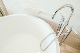 Disabled modern faucet interior clean