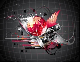 disco music background vector illustration