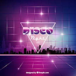 Disco night background