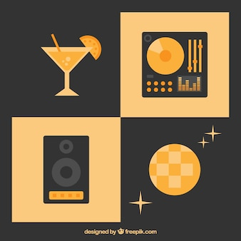 Disco party icons