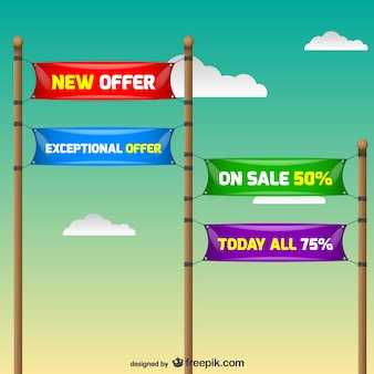 Discount annoncement signs