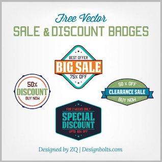 Discount badges and sale items