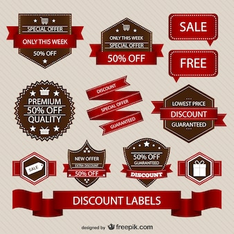 Discount retro sale elements