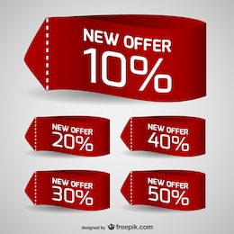 Discount sale tags