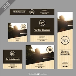 Discounts banners in modern style