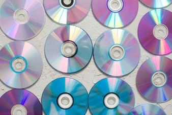 テーブル上のディスク