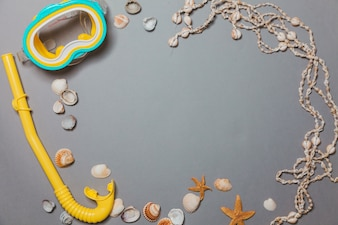 Diving, shells and necklace