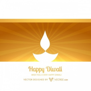 Diwali diya sunburst greeting card