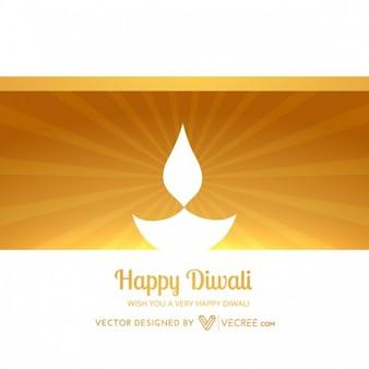 Diwali diya sunburst greeting card