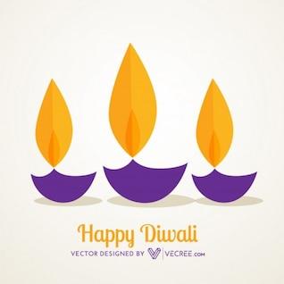 Diwali flames for indian celebration