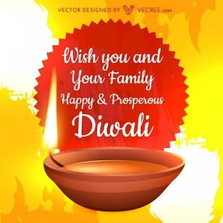 Diwali greeting card with best wishes
