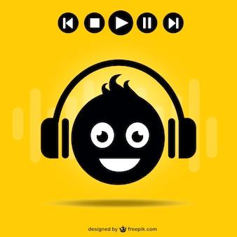 DJ smiley face symbol