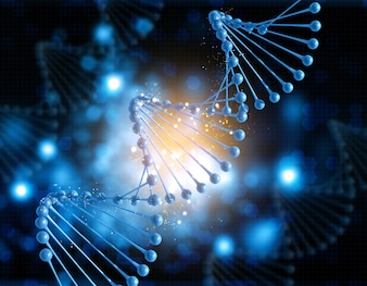 Dna figure on a blur background
