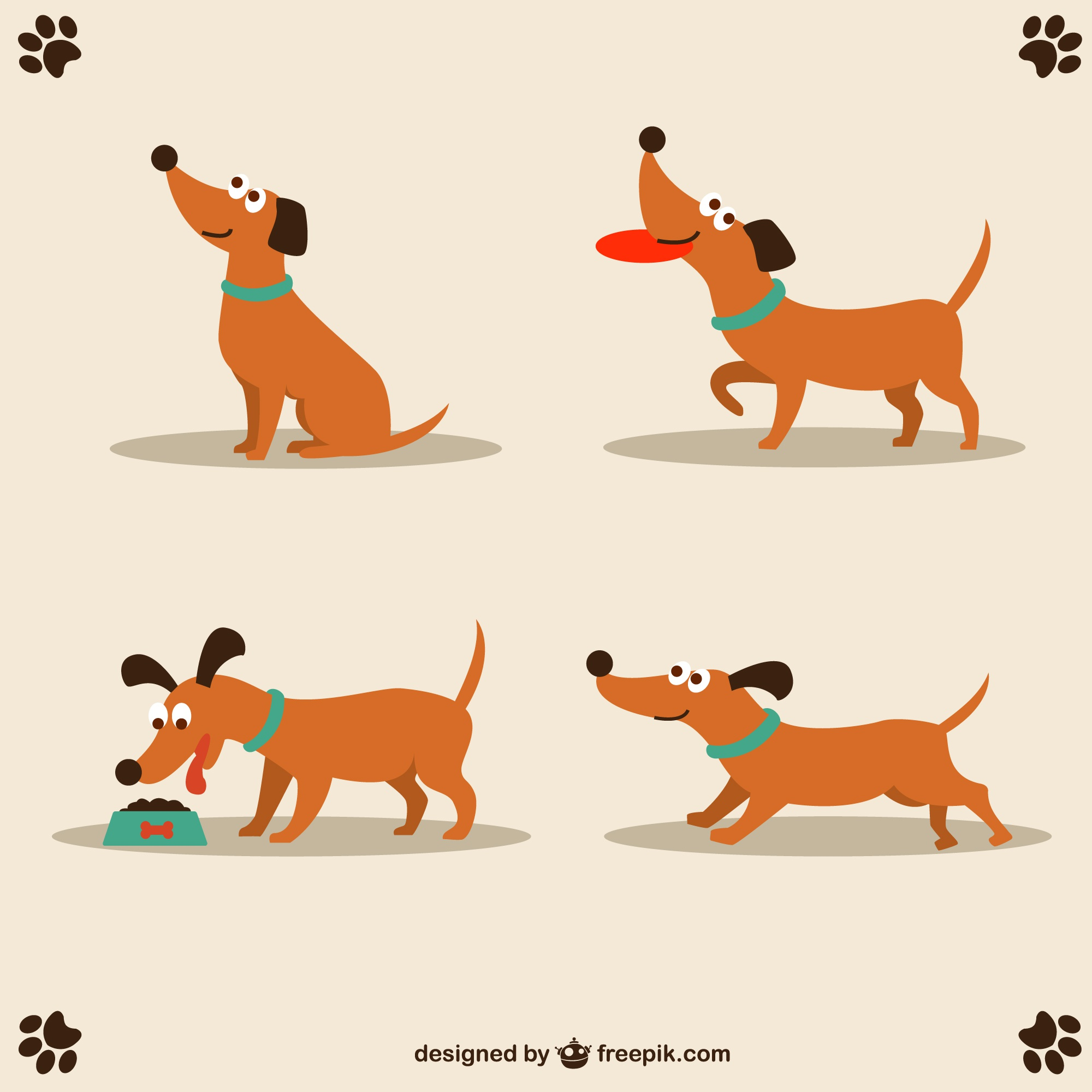 Dog vector cute character design