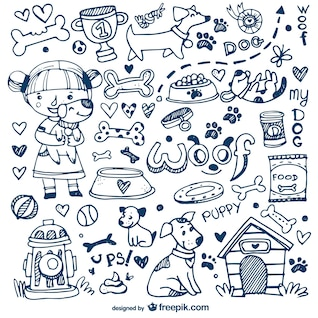 Dogs and pets doodles
