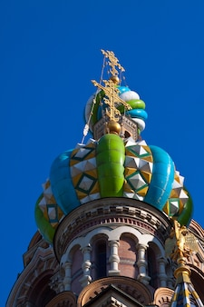 Domes of Church of the Savior on Spilled Blood