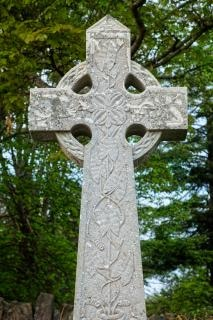 donegal cemetery celtic cross   hdr  catholic