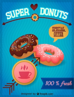 Donuts vector graphic