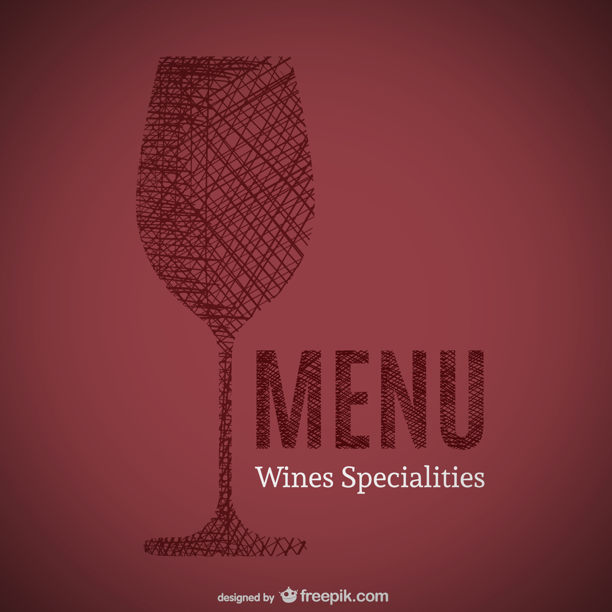 Doodle of wines specialities menu art