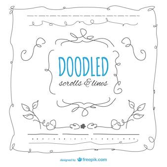 Doodled frames set