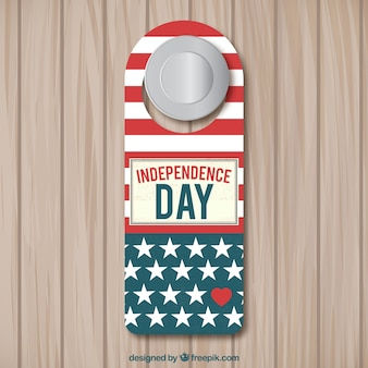 Door label for independence day
