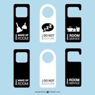 Door tags hotel room vector
