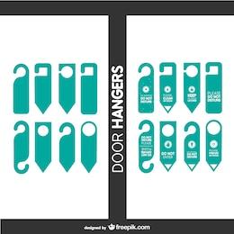 Door tags vector set