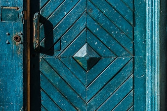 Door with a diamond design