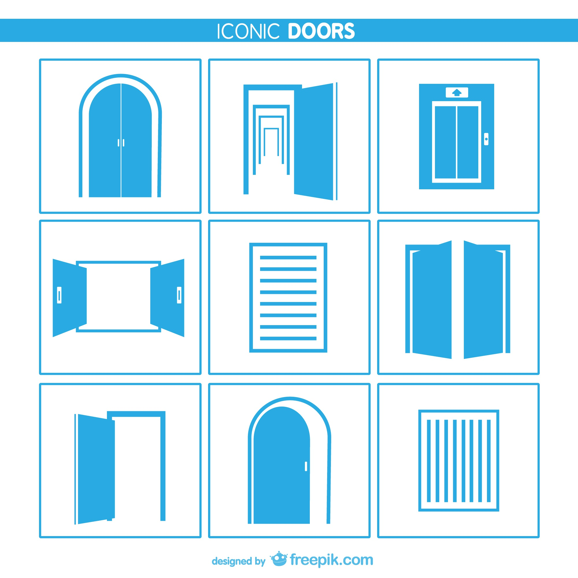 Doors and windows icons