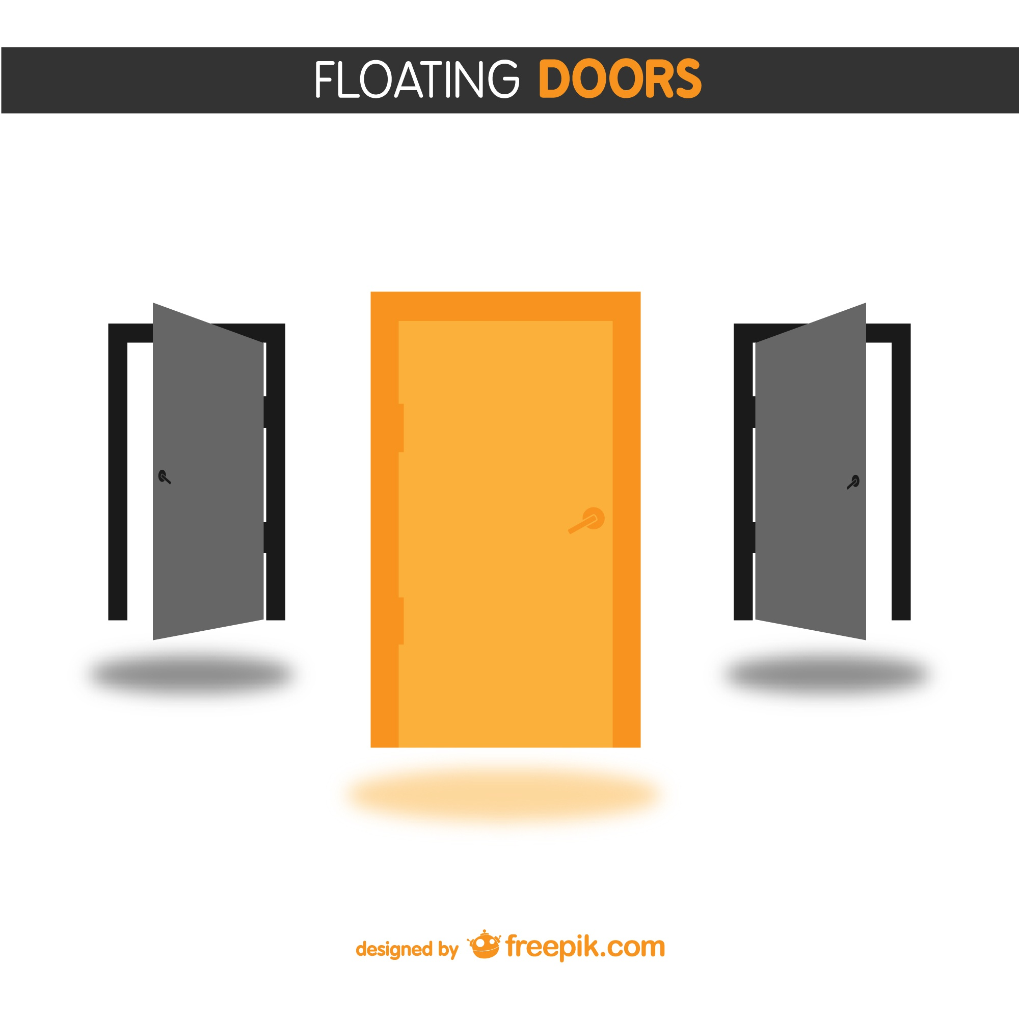Doors free vector design