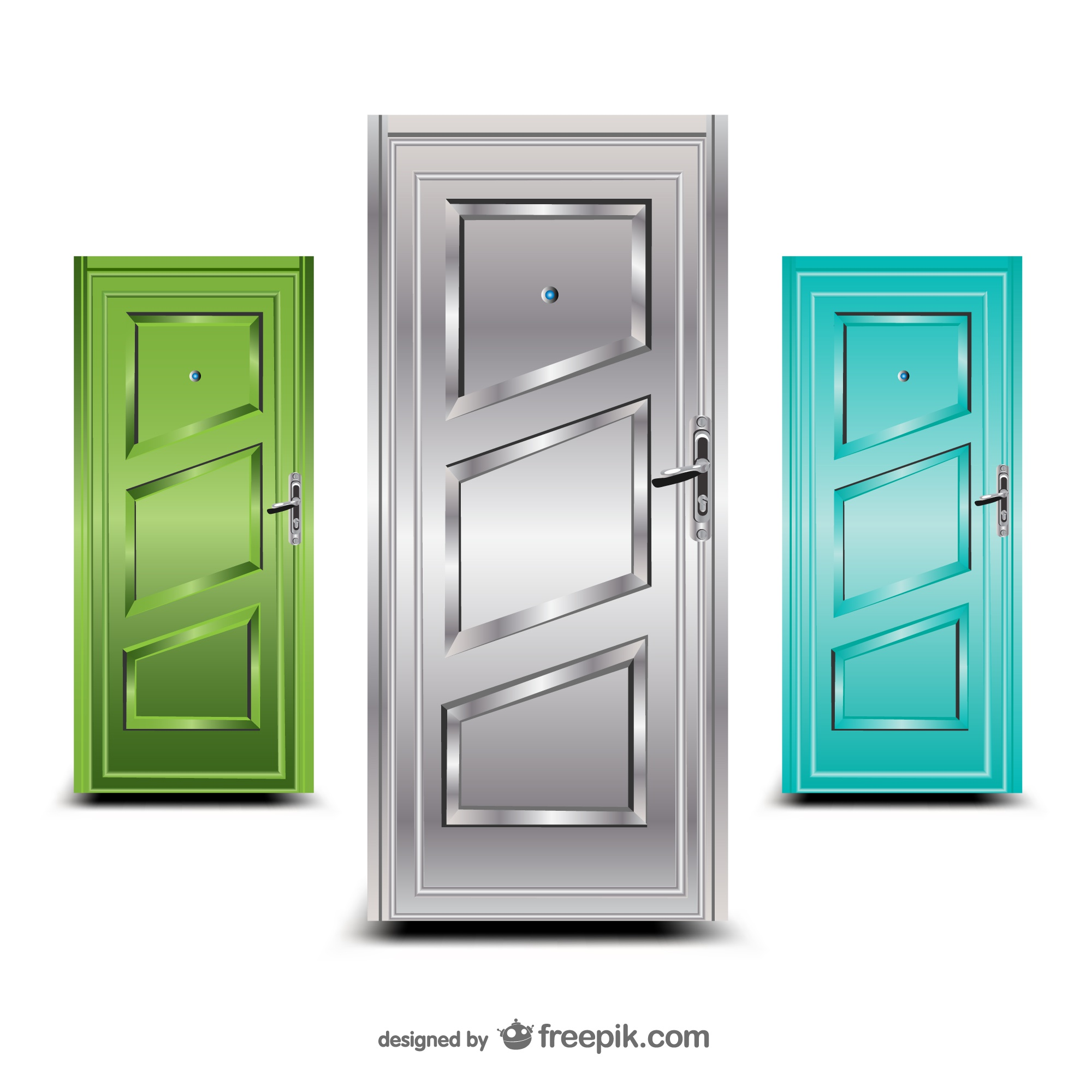 Doors vector illustration set