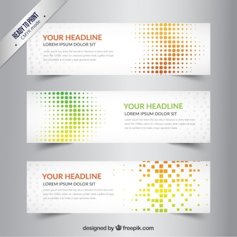 Dotted banners template