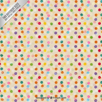 Dotted pattern in colorful style